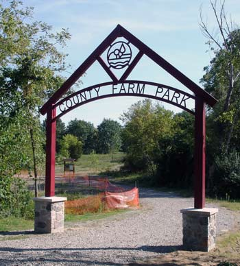 New entrance to County Farm Park