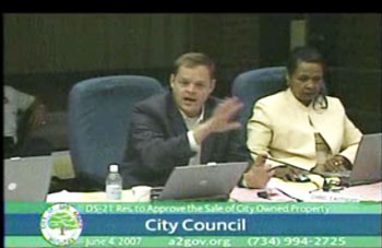 Chris Easthope assures his council colleagues that their deliberations will be posted by bloggers.