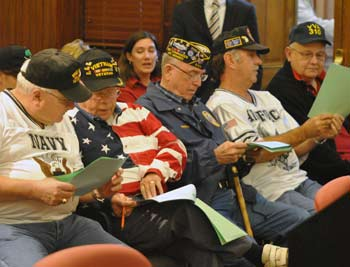 Several veterans attended the Sept. 19 meeting of the Washtenaw County board of commissioners