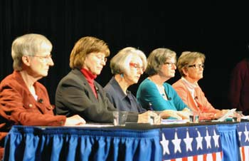 Lyn Davidge, Rebecca Head, Nancy Kaplan, Margaret Leary, Prue Rosenthal, Ann Arbor District Library board, League of Women Voters of the Ann Arbor area, The Ann Arbor Chronicle
