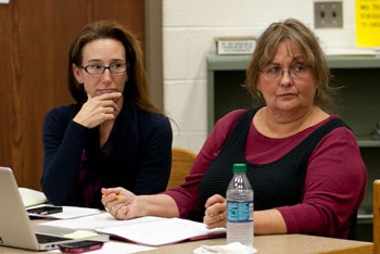 From left: Christine Stead and Irene Patalan