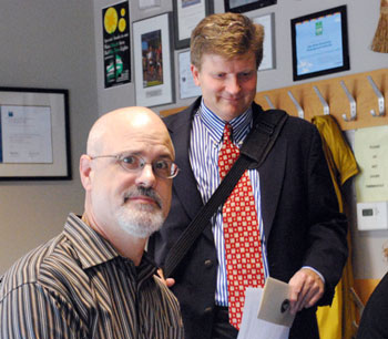 From left: architect Brad Moore and attorney Scott Munzel
