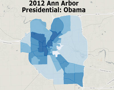 Ann Arbor, The Ann Arbor Chronicle, presidential election, Barack Obama