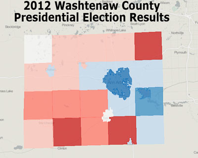 Washtenaw County Presidential Results