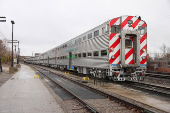 Passenger rail cars that were a part of a test run conducted on Nov. 13, 2012.