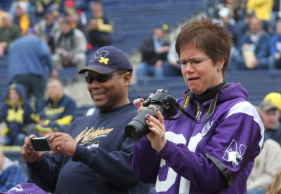 Cathy Arnfelt, Archie Eggleton, University of Michigan football, Northwestern University, Michigan Stadium, The Ann Arbor Chronicle