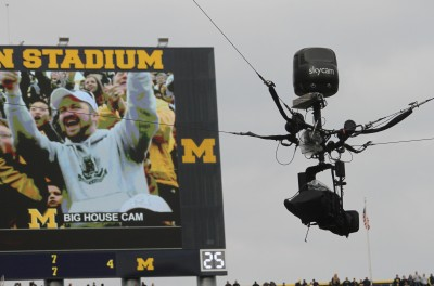 Skycam, University of Michgian football, Michigan Stadium, The Ann Arbor Chronicle