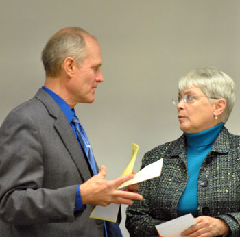 Mayor John Hieftje and Marcia Higgins (Ward 4)