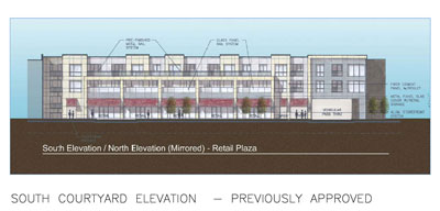 Previously approved Packard Square Elevation