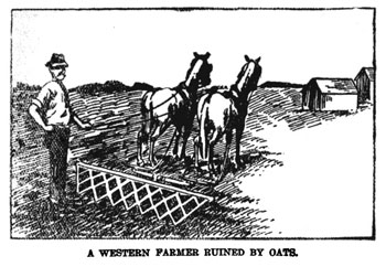 An illustration from Moreau's book hints at the despondency suffered by farmers who were fleeced.
