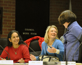 Sumi Kailasapathy (Ward 1), Sally Petersen (Ward 2) and Jane Lumm (Ward 2)