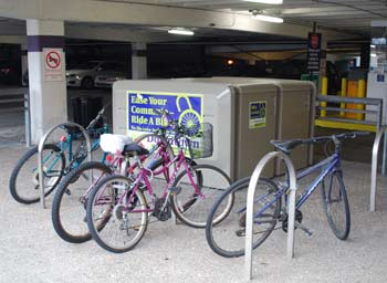 bicycle parking, bike lockers, Ann Arbor parking, alternative transportation, The Ann Arbor Chronicle