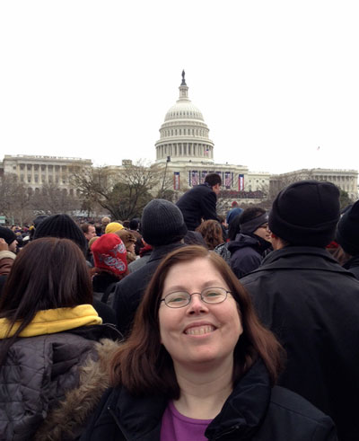 Laura Sky Brown, Jan. 21, 2013 presidential inauguration ceremony.