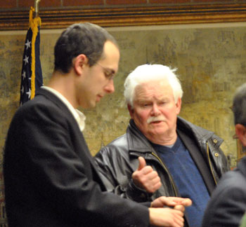 Left to right: Ward 5 councilmembers Chuck Warpehoski and Mike Anglin