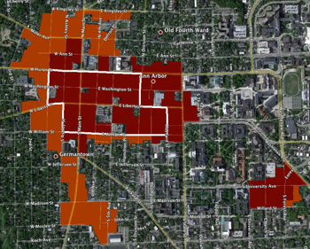Downtown Ann Arbor zoning.