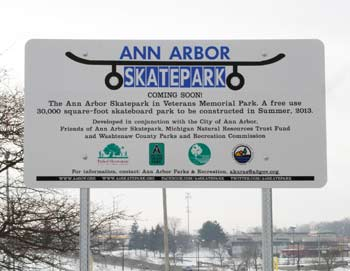 Ann Arbor skatepark, Veterans Memorial Park, Washtenaw County parks & recreation commission, The Ann Arbor Chronicle
