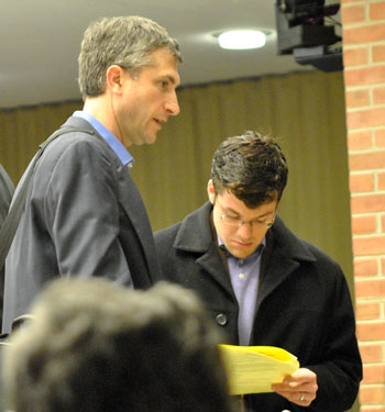 Left to right: Christopher Taylor (Ward 3) and Washtenaw County commissioner Andy LaBarre.