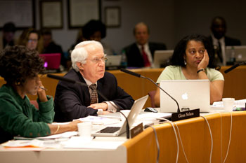 From left: AAPS trustees Simone Lightfoot, Glenn Nelson and Susan Baskett