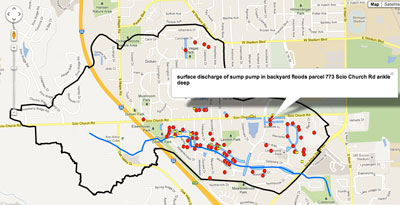 Malletts Creek smart map for study area