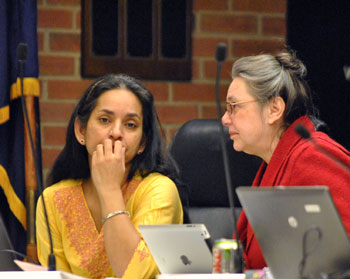 From left: Ward 1 councilmembers Sumi Kailasapathy (Ward 1) Sumi Kailasapathy (Ward 1).