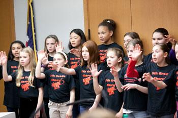 Wines Elementary 5th grade chorus