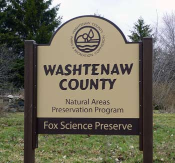 Fox Science Preserve, Washtenaw County parks and recreation commission, natural areas preservation program, The Ann Arbor Chronicle