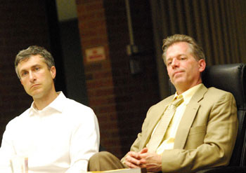 From left: Christopher Taylor (Ward 3) and Stephen Kunselman (Ward 3)