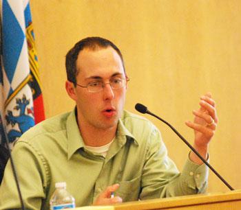 Ann Arbor city councilmember Chuck Warpehoski