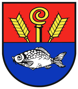 Reinfeld's coat of arms displays a silvery German carp