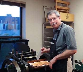 Jim Horton, boundedition, bookmaking, The Ann Arbor Chronicle