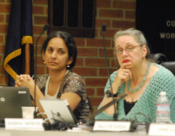 From left: Ward 1 councilmembers Sumi Kailasapathy and Sabra Briere