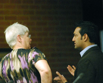 Marcia Higgins (Ward 4) and Paras Parekh, whose appointment to the planning commission was confirmed at end of the meeting.