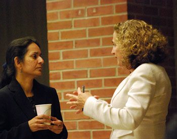 From left: Sumi Kailasapathy, Rochelle Lento, a Dykema attorney who is doing pro bono work for the Ann Arbor public housing commission in connection with the RAD conversion.