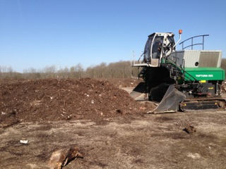 Komptech Composter used by WeCare Organics
