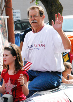 Jack Eaton at the 4th of July parade this year.