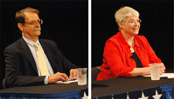 Jack Eaton and incumbent Marcia Higgins are competing for the Democratic nomination in the Ward 4 primary election on Aug. 6.
