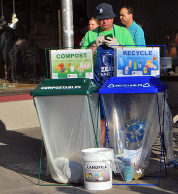 Recycle Ann Arbor booth at the annual Mayor's Green Fair held on June 14, 2013 this year.