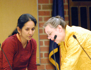 Ward 1 councilmembers Sumi Kailsasapathy and Sabra Briere.