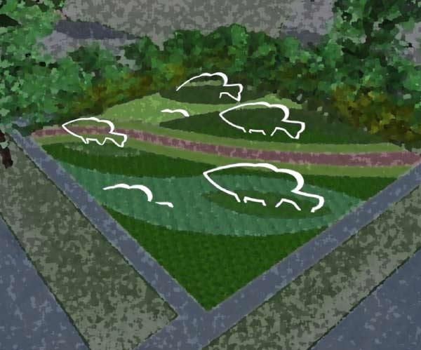 The Ann Arbor Chronicle Design Approved For Rain Garden Sculptures