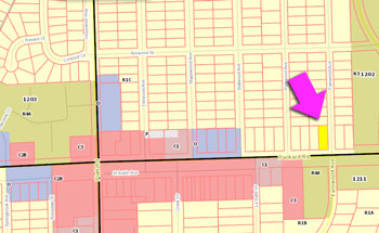 Packard Road zoning map