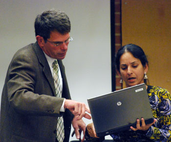 Ann Arbor city administrator Steve Powers, Sumi Kailasapathy (Ward 1)