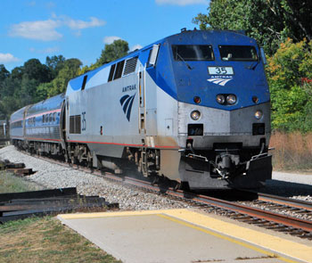 Amtrak train arrival (Chronicle file photo from September 2013)