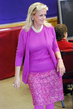 Debbie Dingell, who's married to U.S. representative from Michigan John Dingell (D-12).