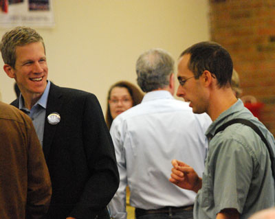From left: Kirk Westphal, Chuck Warpehoski (Ward 5)