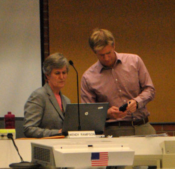 City of Ann Arbor planning manager Wendy Rampson and Mike Martin