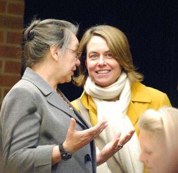 From left: Sabra Briere (Ward 1), Maura Thomson, president of Main Street Area Association