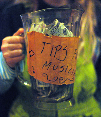 Pitcher passed at the Old Town Tavern on Jan. 1, 2014 for the annual Townes Van Zandt memorial show performed by Chris Buhalis – on the anniversary of Van Zandt s death, now 17 years ago. (Photo by the writer).