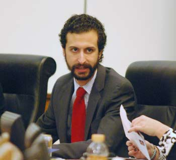 Youself Rabhi at the Jan. 8, 2014 meeting of the Washtenaw County board of commissioners.