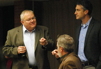 From left: public services area administrator Craig Hupy, Stephen Kunselman (Ward 3) and Christopher Taylor (Ward 3).