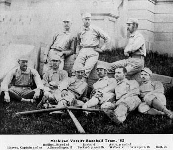 Moses with his 1882 UM teammates.